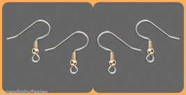 2 gross (288)  Surgical Steel Ear Wires ~ French Hooks w/ Gold Bead/Ball... - $12.86