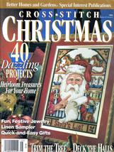 CROSS STITCH CHRISTMAS 1994 ORNAMENTS STOCKINGS SANTA NATIVITY+ 40 PROJE... - $10.98