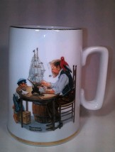 Norman Rockwell Museum Mug For A Good  Boy VTG 1985 12 oz Gold Trim Gran... - $16.82