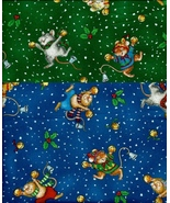 2 Yds SSI Jingle Bell Mice Quilt Cotton, Mouse,... - $29.88