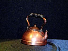Brass Teapot with Lid AA19-1442 Vintage image 4