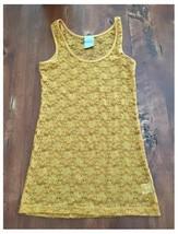 Modbe Goldenrod Lace Tank Gold Yellow Stretch Small S EUC - $5.93