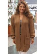 Brown cardigan, Jacket made of pure alpaca wool  - $108.00
