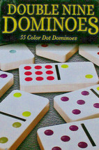 Dominoes Double Nine Set with Tin / 55Color Dot Dominoes (G7) - $14.03