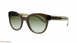 Burberry Women's Sunglasses BE4210 30108E Olive Green/Green Gradient Lens Round - $136.77
