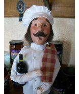 Byer's Choice Caroler, Chef with Bottles of Win... - $67.00