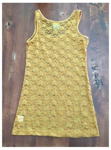 Modbe Goldenrod Lace Tank Gold Yellow Stretch Small S EUC image 3