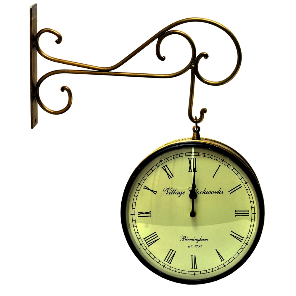Primary image for Vintage Clock Double Side (Railway Style) Clock 10 Inches