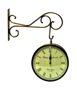 Vintage Clock Double Side (Railway Style) Clock 10 Inches - £84.11 GBP