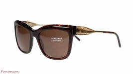 Burberry Womens Sunglasses BE4207 300273 Havana Gold/Brown Lens Square Authentic - $179.45