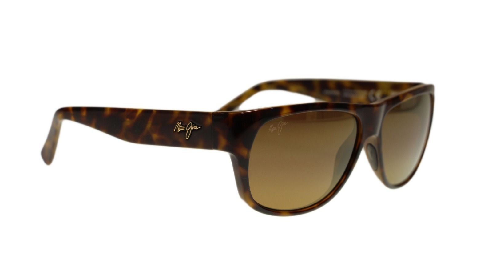 MAUI JIM MJ H282-10L Makawo Tortoise Polarized Rectangle Unisex Sunglasses 58mm