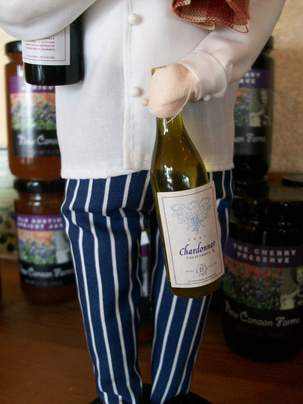 Byer's Choice Caroler, Chef with Bottles of Wine, New