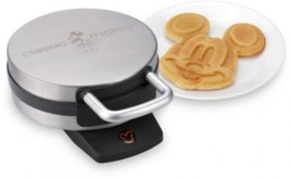 Disney Classic Mickey Face Waffle Maker Brushed Stainless Steel Griddle ... - €65,93 EUR