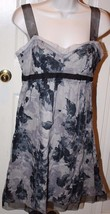 Ann Taylor LOFT Petites Black Grey Floral Dress... - $39.99