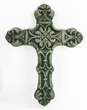 Iberian Cross Concrete Wall Plaque  - $54.00