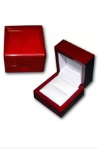 NEW 1 Cherry Rosewood Solid Wood Ring Jewelry Box - €8,41 EUR