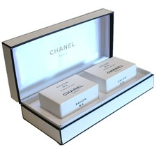 Chanel Soap Set 2 Large 150 gram Soaps Savon No. 5 & No. 19 in BOX - $148.50
