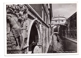 RPPC Venezia Ponte Sospiri 1938 Italy Bridge of Sighs Gondola Bromostamp... - $4.99
