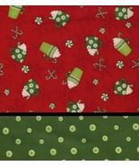 2 FQ Mumm Christmas Prints Ho Ho Holiday, Hot C... - $8.48