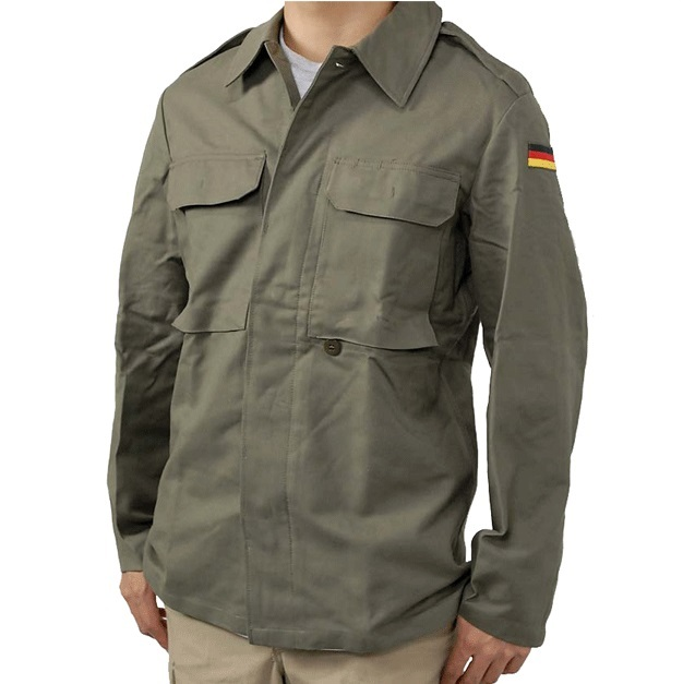 new type* German army field moleskin shirt jacket coat ...