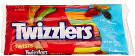 Gummi Candy TWIZZLERS Twists Rainbow 124Ounce Bags Pack of 6 w148.8 2010... - $17.98