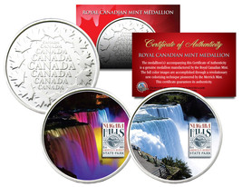 NIAGARA FALLS * Daytime & Nightime * Set of 2 Royal Canadian Mint Medall... - $12.16