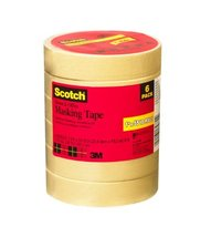 Craft Scotch Home and Office Masking Tape 1Inch x 55 Yards 6 Rolls 34376MP - $24.73