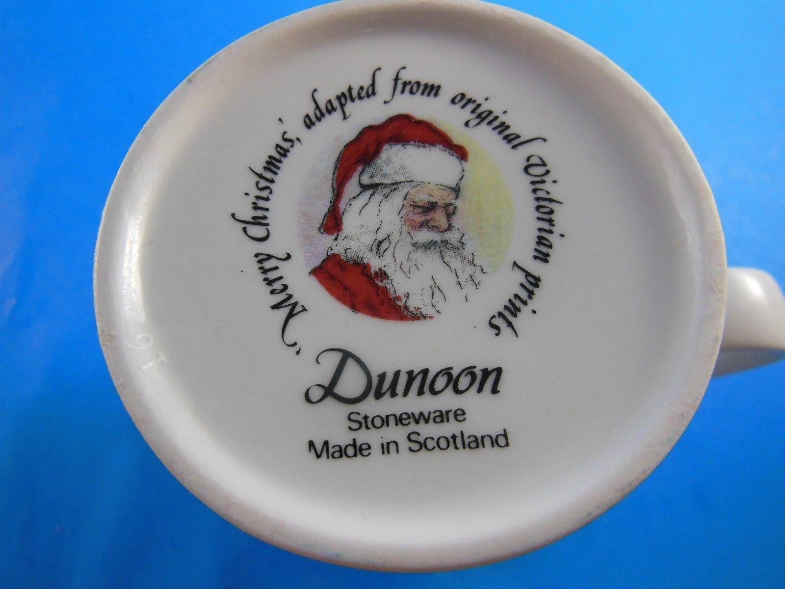 Dunoon Stoneware  Mug Cup Santa's Workshop Christmas Scotland
