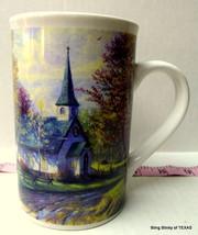 Thomas Kinkade Aspen Chapel Cup Collectible Ceramic Mug Tall  2001 - $23.06