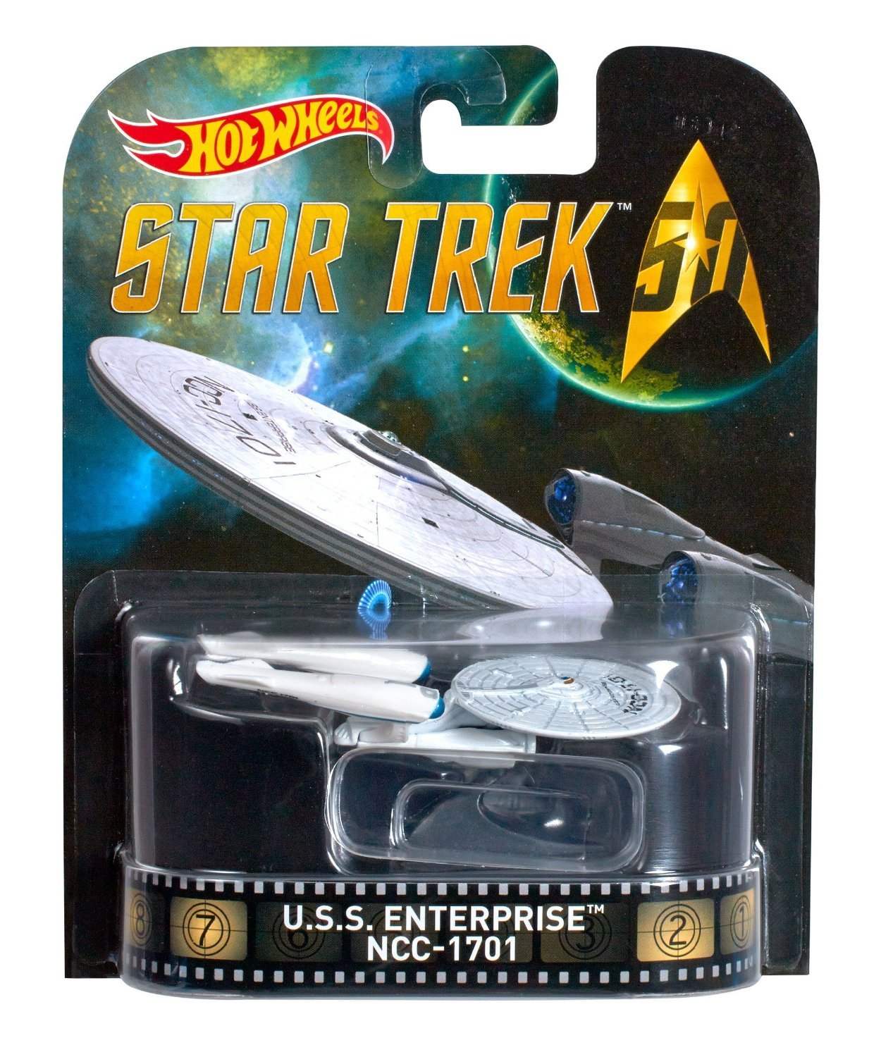 Hot Wheels Star Trek U.S.S. Enterprise NCC 1701. Retro Series. 1:64 Scale. - $13.99