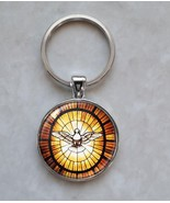 Peace Dove Stained Glass Image Pendant Keychain - $14.00+
