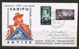"SOUTH AFRICA Scott #120-1 on FIRST DAY COVER ""CAPETOWN STAMP EXHIBIT"" (O... - $5.94"