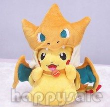 "Pokemon Center 8"" Mega happy Pikachu With Charizard hat Plush Soft Toy D... - $12.86"