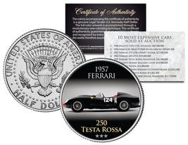 1957 FERRARI 250 TESTA ROSSA * Expensive Auction Cars * JFK Half Dollar ... - $8.95
