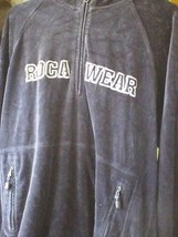 ROCAWEAR VELOUR BLUE GRAY HOODIE 80% COTTON 1/4... - $17.60