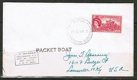 "SAMOA ""PACKET BOAT COVER"" SS-WAIKAWA to USA Signed by PURSER (21/MY/54)(... - $17.82"