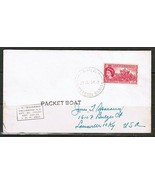 "SAMOA ""PACKET BOAT COVER"" SS-WAIKAWA to USA Signed by PURSER (21/MY/54)(... - €15,13 EUR"