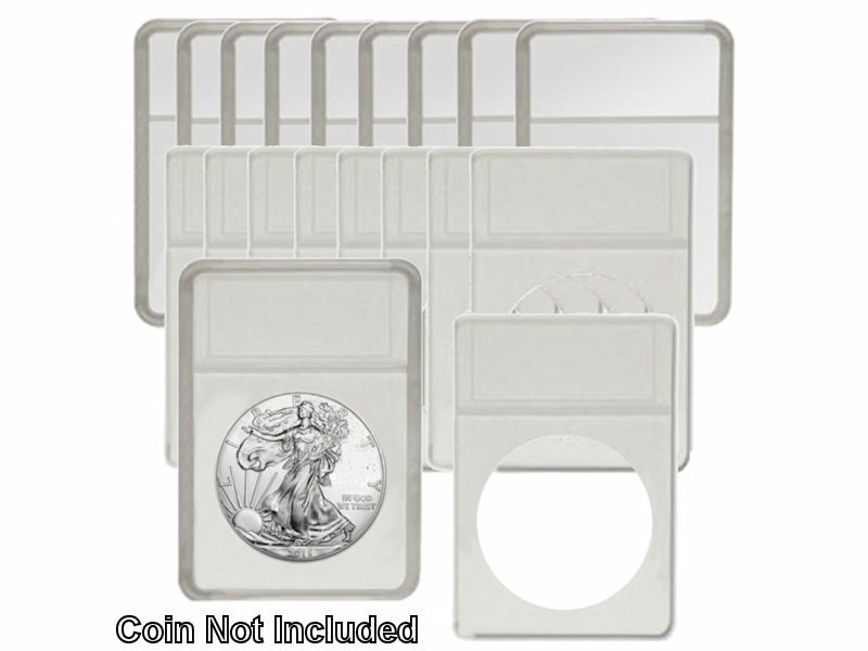 BCW Premium Large Dollar Coin Display Slab Holder with White Foam Inserts 25