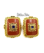 Catherine Stein Vintage Earrings with Southwest meets Romanesque Style - $17.00