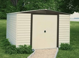 Arrow Sheds 10x6 Vinyl Dallas Metal Storage Shed - Vinyl Coated Steel (V... - $669.95