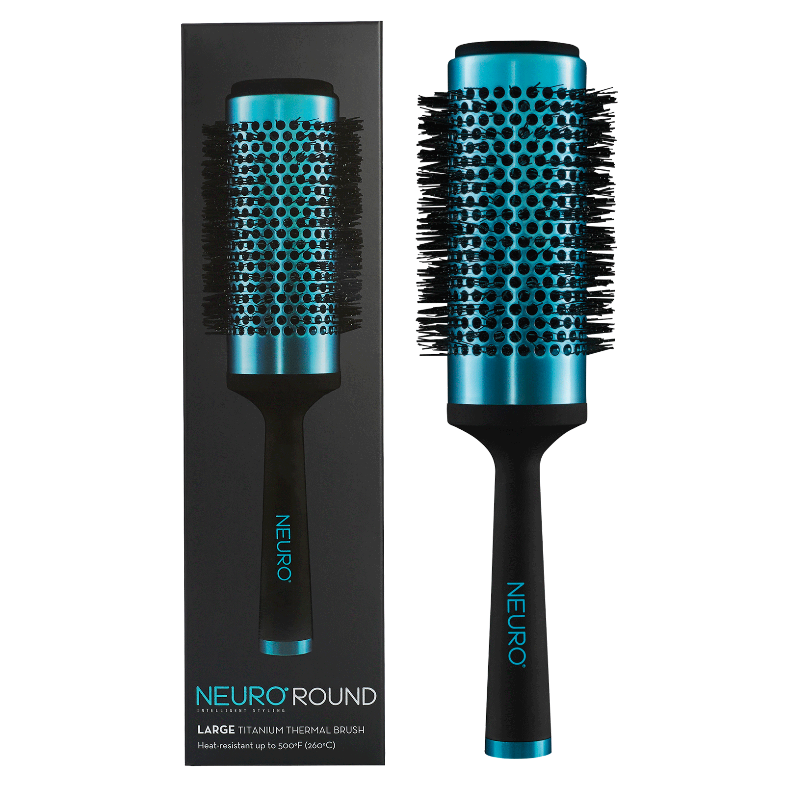 Neuro round titanium thermal brush   large