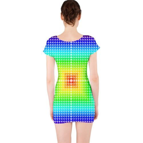 Cute Digi Square Tight Fitted Bodycon Dresses - Size & Sleeve Options