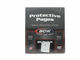 BCW Pro Poly Archival Pages, 20-2x2 pockets, 100 pack - $31.99