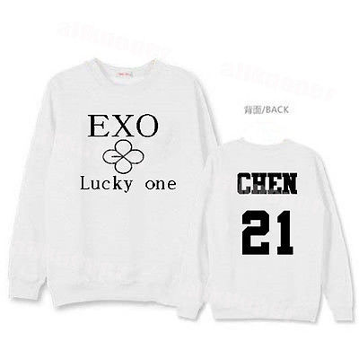 Kpop EXO EX'ACT Sweater Unisex Chanyeol Hoodie Pullover [Lucky One]Sweatershirt