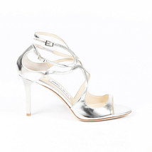 Jimmy Choo Metallic Leather Strappy Sandals SZ 39.5 - $260.00