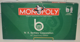 Monopoly W. R. Berkley Corporation 40th Anniversary Edition - $25.00