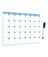 11x17 Large Monthly Dry Erase Magnetic Calendar with Magnetic Marker and... - £10.76 GBP