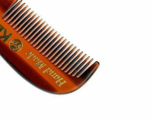 "Kent 81T 2 3/4"" 73mm Men's Handmade Beard/Moustache Comb, X-Small Pick Quantity"