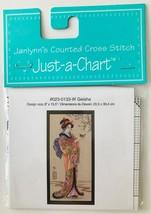 "Just a Chart Geisha Counted Cross Stitch Design #023-0133-W 8"" x 15.5"" J... - $9.74"