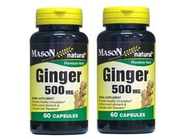 60 X 2 = 120 CAPSULES GINGER ROOT 500 mg healthy circulation Zingiber of... - $9.79